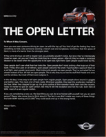 THE OPEN LETTER ad