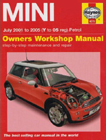 MINI Owners Workshop Manual: July 2001 to 2005 (Y to 05 Reg) Petrol