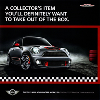 THE 2013 MINI JOHN COOPER WORKS GP.
