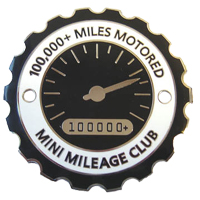 MINI MILEAGE CLUB grille badge