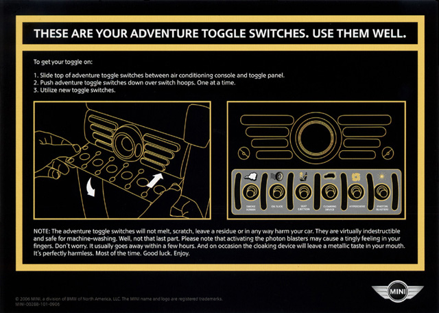 adventure toggle switches card