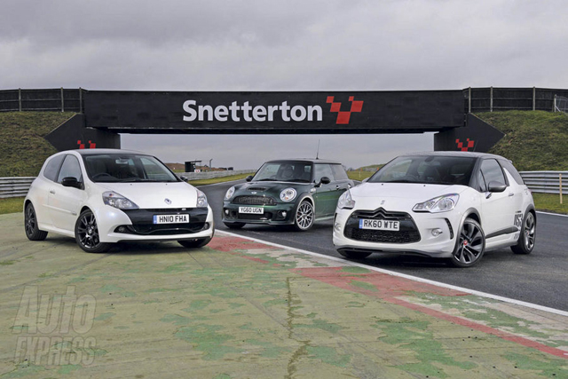 MINI JCW vs. Citroën DS3 Racing vs. Renaultsport Clio