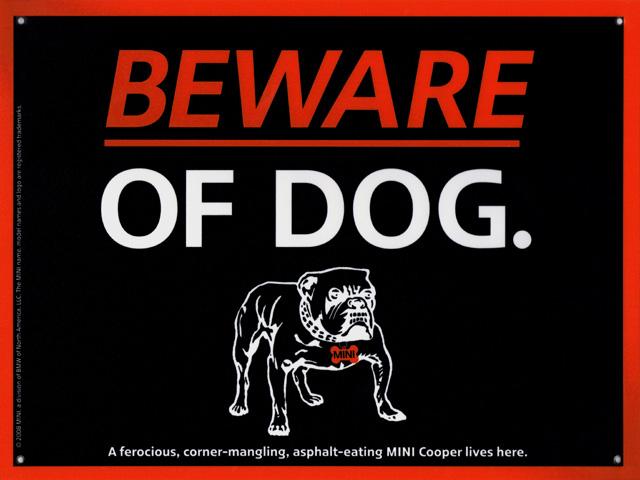 BEWARE OF DOG. sign