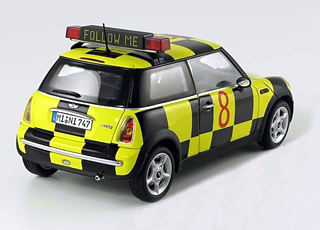 """Follow Me"" MINI Cooper model"