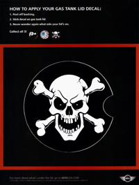 skull and crossbones gas tank lid decal ad