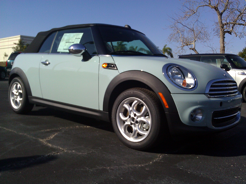 Ice Blue 2011 MINI Cooper Convertible