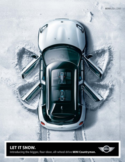 MINI Countryman print ad LET IT SNOW.