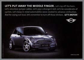 LET'S PUT AWAY THE MIDDLE FINGER. ad