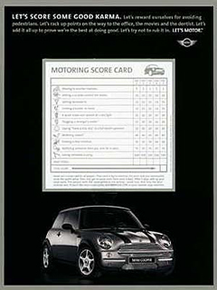 MINI Score Card ad