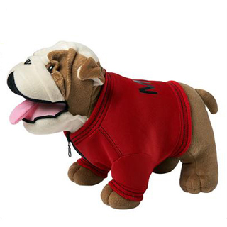 Standing Plush Bulldog with Jacket