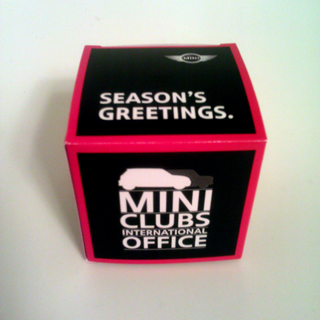 MINI Clubs International Office ornament box