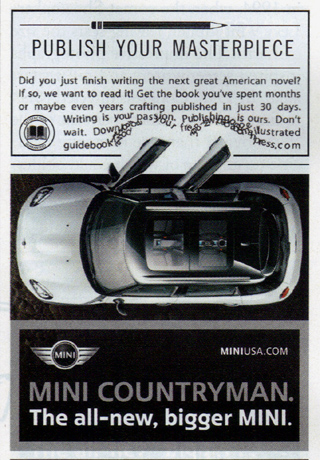 MINI Countryman ad in The New Yorker (page 25)