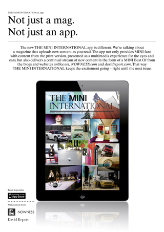 The MINI International iPad App