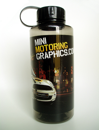 MINI Motoring Graphics bottle (front)