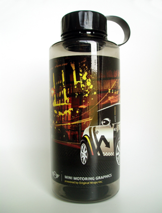 MINI Motoring Graphics bottle (back)