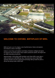 MINI PRODUCTION @ OXFORD brochure (inside)