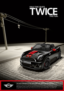 MINI Roadster print ad 1