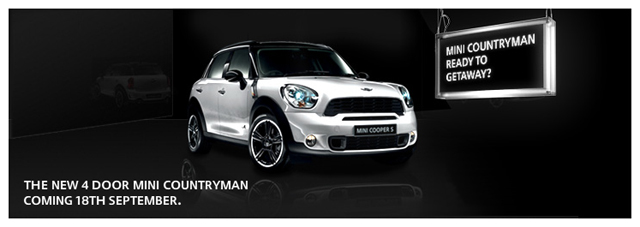 MINI Countryman coming September 18.