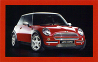 MINI USA Let's Motor card (Chili Red)