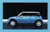 MINI USA Let's Motor card (Electric Blue)