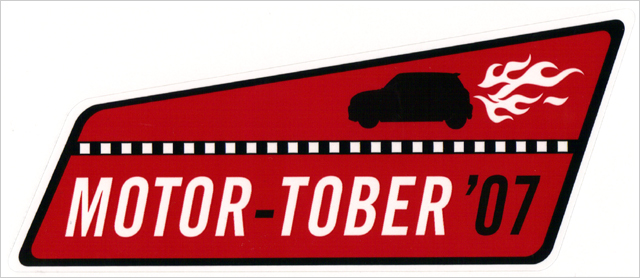 MOTOR-TOBER '07 sticker