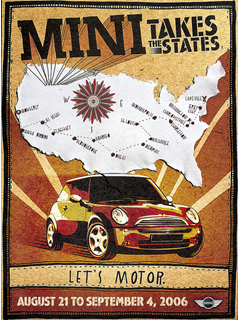 MINI Takes the States 2006 poster
