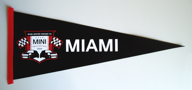 MINI Takes the States 2008 Miami pennant