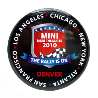 MINI Takes the States 2010 button pin