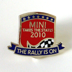 MINI Takes the States 2010 lapel pin