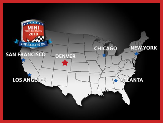 MINI Takes the States 2010 map