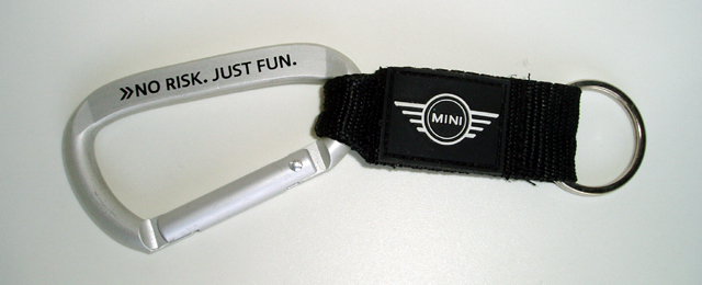 NO RISK. JUST FUN. keychain