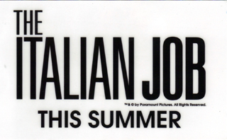 The Italian Job window cling
