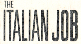 The Italian Job window sticker