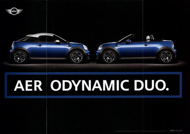 AERODYNAMIC DUO. print ad