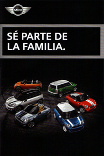 MINI model year 2012 pocket brochure (Spanish)