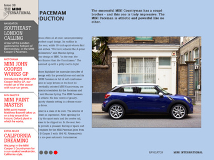 The MINI International Issue 38 iPad sample