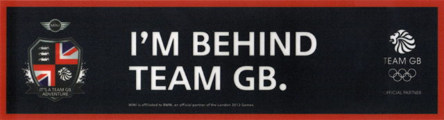 I'M BEHIND TEAM GB. window sticker