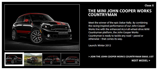 MINI JCW Countryman on MINIUSA.com
