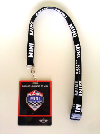 MINI Takes the States 2012 lanyard