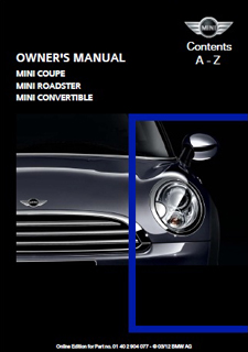 2012 mini owner s manuals now available online library of motoring rh libraryofmotoring info 2017 Mini Clubman 2009 mini cooper clubman repair manual