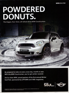 POWDERED DONUTS. MINI Countryman print ad