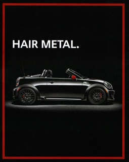 SPIN HAIR METAL. print ad
