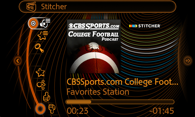 Stitcher App on MINI Connected