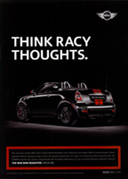 THINK RACY THOUGHTS. print ad (version 1)