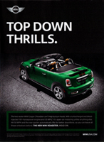 TOP DOWN THRILLS. print ad