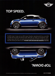 TOP SPEED. TOP DOWN. print ad