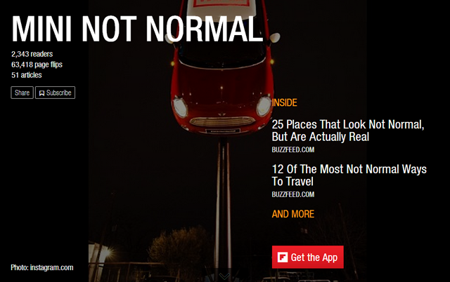 Flipboard: MINI Not Normal
