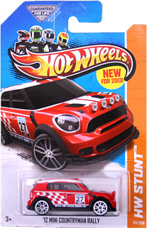Hot Wheels 2012 MINI Countryman Rally (red)