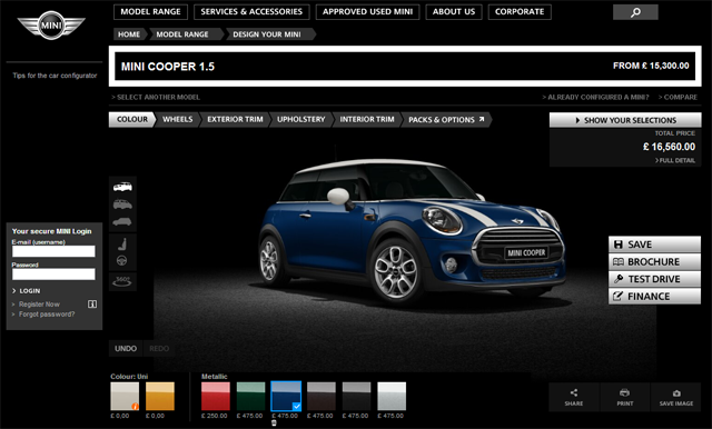 2014 Mini Uk Configurator Now Available Library Of Motoring An