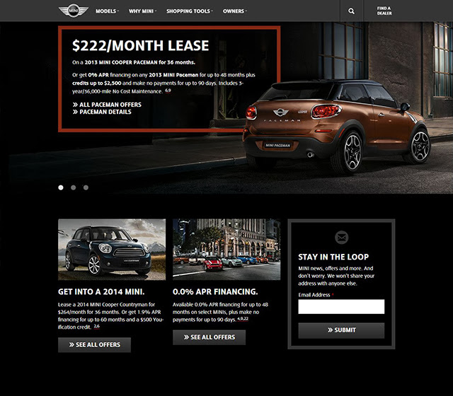 Best Info And News Site: MINI USA Website Redesigned